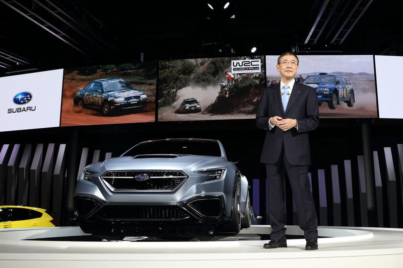 「スバルには約40年にわたり培ってきたモータースポーツヘリテージがあります」と語る吉永社長