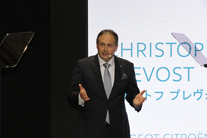 10月25日のプレスカンファレンスに出席したプジョー・シトロエン・ジャポン株式会社 代表取締役社長のクリストル・プレヴォ氏