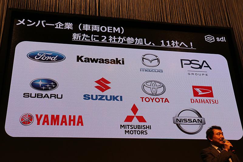 SDLCには11社の自動車メーカーが加盟している