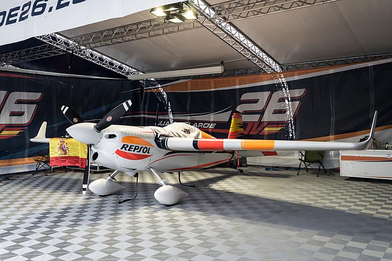 フアン・ベラルデ選手(No.26 チーム ベラルデ、スペイン)の機体「EDGE 540 V2」