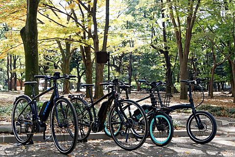 ボッシュ、日本市場に新導入する電動アシスト自転車用「eBike」システム発表会&試乗会 ボッシュが開発した電動アシスト自転車用「eBike」システムを搭載する市販予定モデル
