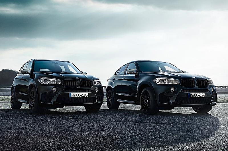 「X6 M Edition Black Fire」(右)と「X5 M Edition Black Fire」(左)
