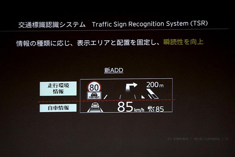 オプション設定のTSRは、ドライバーの瞬読性を向上させている