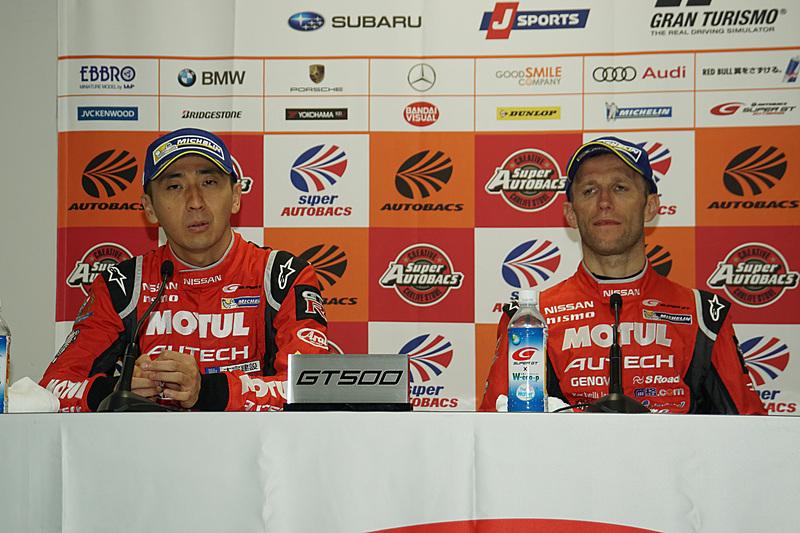 最終戦を優勝した23号車 MOTUL AUTECH GT-R(松田次生/ロニー・クインタレッリ組)