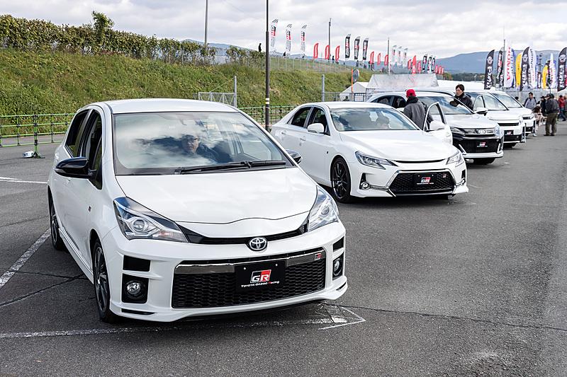 トヨタは新たに立ち上げた「GR」シリーズを展示