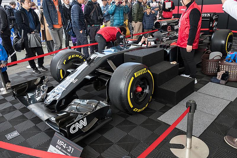 McLaren-Honda MP4-31とTS050 HYBRIDはコクピットに乗ることができた