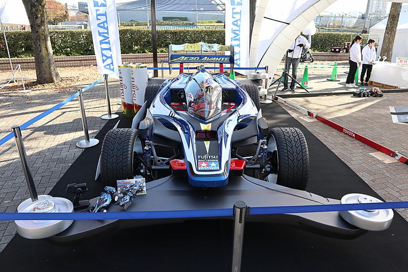 「1/1ミニ四駆実車化プロジェクト」で製作した実車版ミニ四駆「エアロ アバンテ」