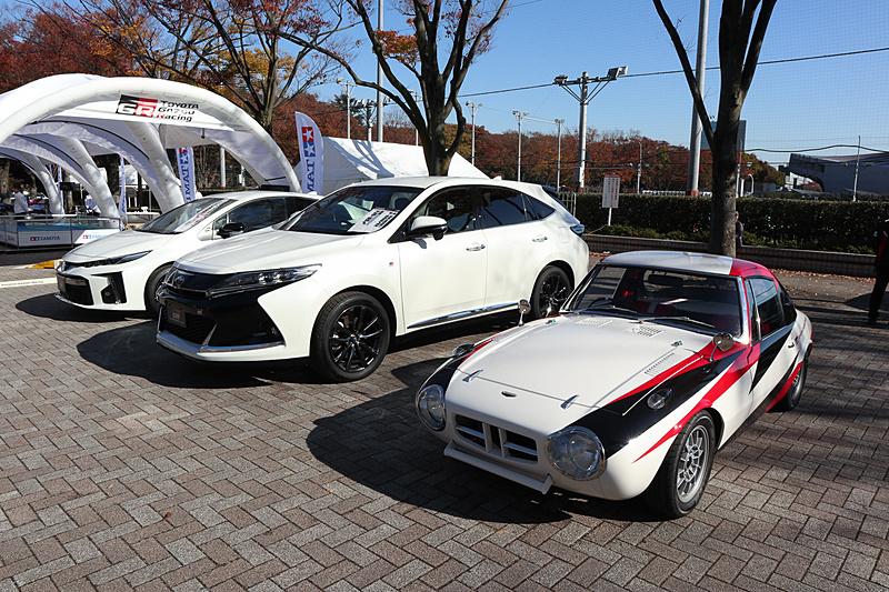 "「GR」シリーズの市販モデルである「プリウス PHV""GR SPORT""」「ハリアー""GR SPORT""」や、コンセプトカー「スポーツ800 GR CONCEPT」"