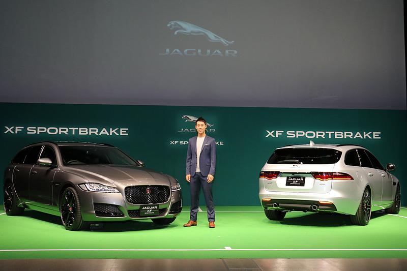 ジャガーのブランド・アンバサダーである錦織圭選手の登場に合わせ、XF スポーツブレイクをアンベール