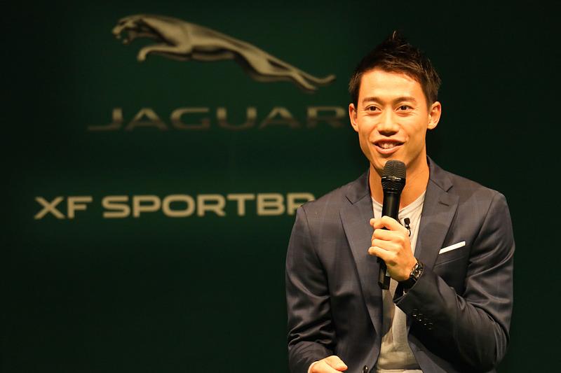 ジャガーの魅力について語り、F-PACEを「最高の相棒」と表現する錦織選手