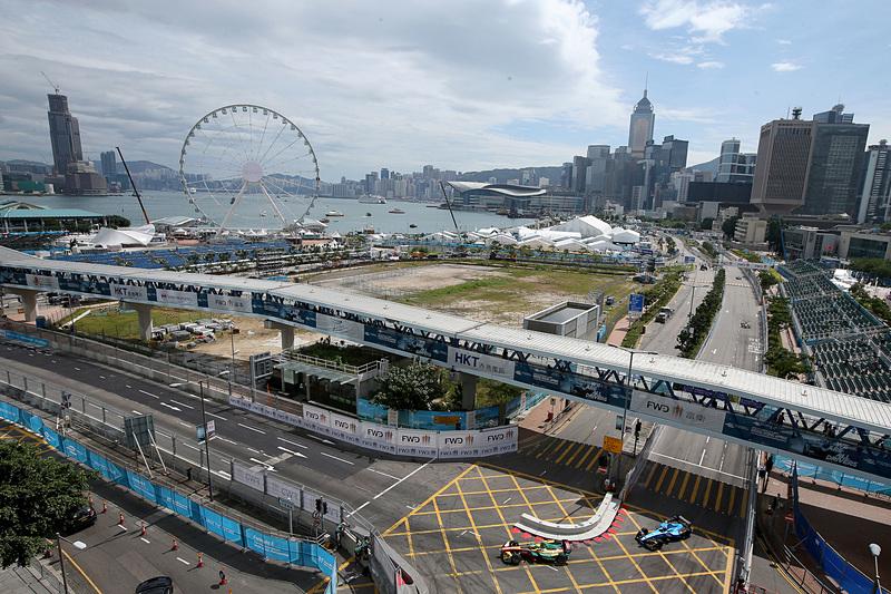 開幕戦の舞台となる香港セントラル ハーバーフロント サーキットは、観覧車が目印となる港湾地区に特設された市街地コース