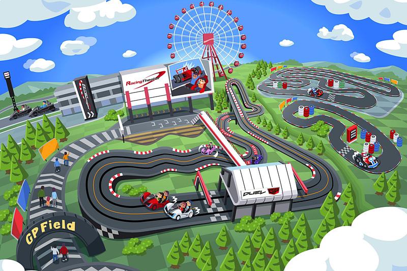 モートピア内「GPフィールド」エリアに新アトラクション「DUEL GP(デュエルジーピー)」が2018年3月3日オープン