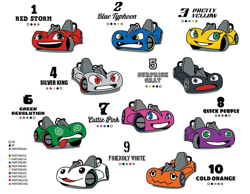 10種類のキャラクターが用意された個性的なDUEL GPのマシン