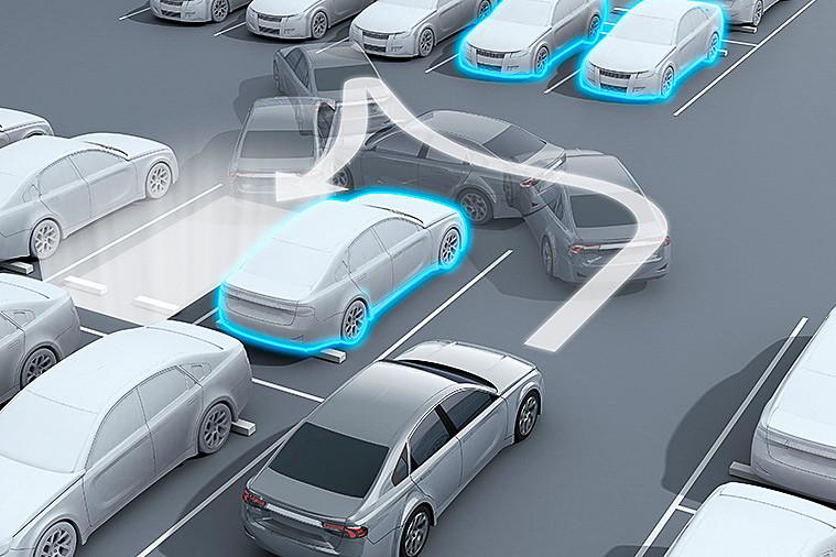 自動駐車支援技術のイメージ