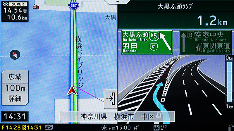高速道路や都市高速での案内