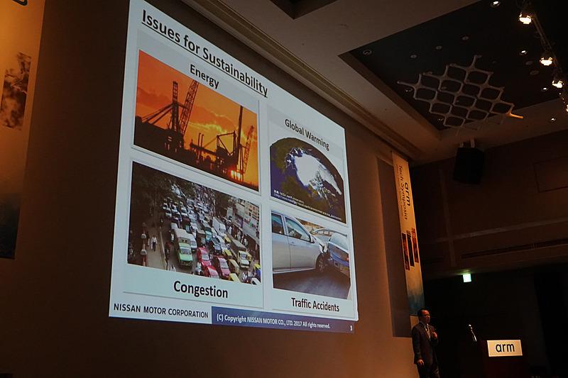 エネルギー、地球温暖化、交通渋滞、交通事故という4つの問題に対して「ゼロ・エミッション」「ゼロ・フェイタリティ」を目標に掲げた。エネルギーと地球温暖化に対してはクルマの電動化、交通渋滞と交通事故に対してはクルマの知能化に取り組むことを示した