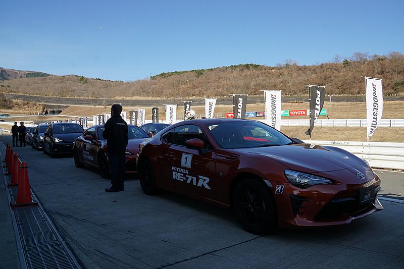 ショートサーキットではブリヂストンによるタイヤの比較試乗ができる「ワクワクPOTENZAドライブ」や「ランフラットタイヤ体験試乗会」が開催されていた