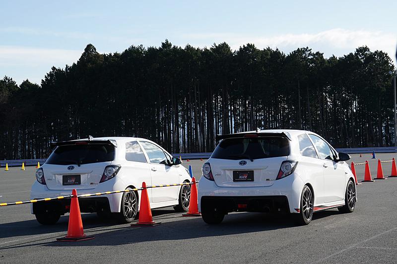 P7駐車場にはトヨタのスポーツカーシリーズ「GR」モデルの比較試乗コーナー