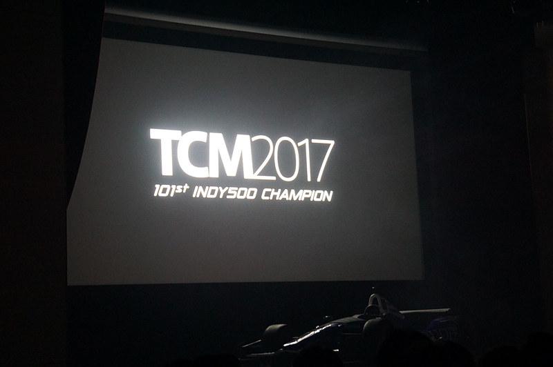 """TCM2017のタイトルに続く""""101st INDY500 CHAMPION""""の文字が泣かせる"""