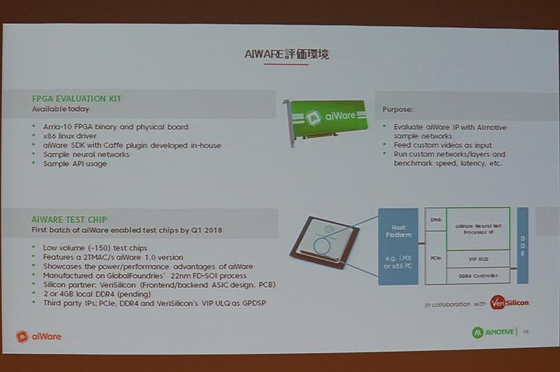 FPGAを利用した評価環境を提供。テストチップは2018年第1四半期までに製造開始