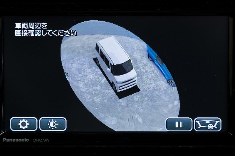 全方位モニターには3Dビューモードを用意。自車を斜め上方から見下ろした映像で周囲を確認できる