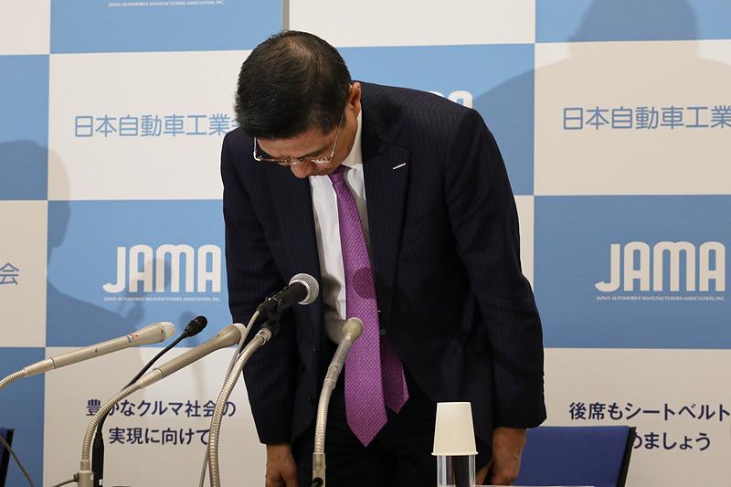 西川氏は会見の冒頭であらためて謝罪した
