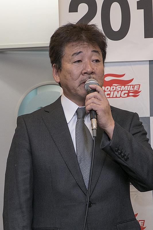 マシンメンテナンスはRSファインが引き続き担当。代表の河野氏が発表会に参加した