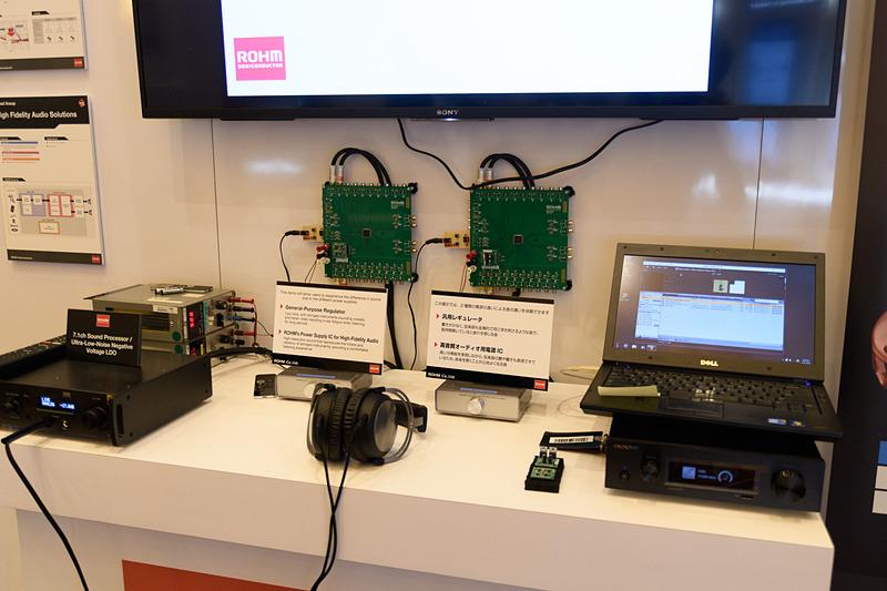 電源ICの聞き比べ展示