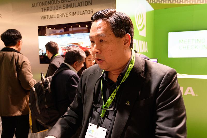 NVIDIAブースを案内してくれた、NVIDIAのティム・ウォン(Tim Wong)氏