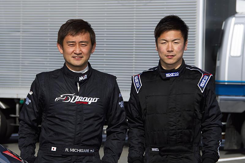 道上龍選手(左)と大津弘樹選手(右)