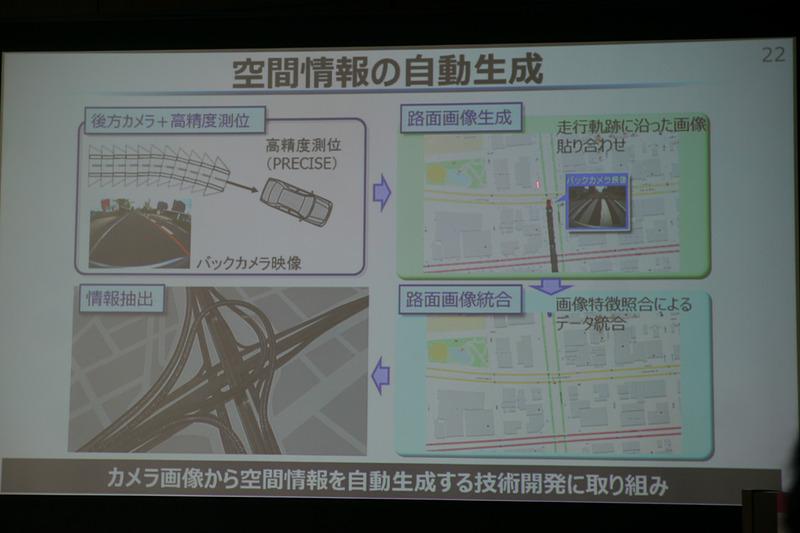 コネクテッド技術で最新情報を手に入れたり、地図情報のアップデートなども行なっていく