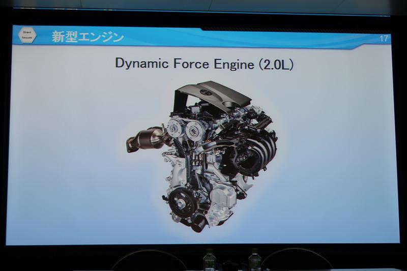 2.5リッターに続いて登場する2.0リッターのDynamic Force Engine
