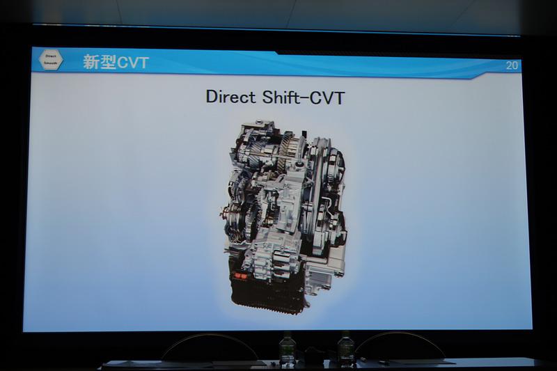 2つの「世界初」の技術が与えられたDirect Shift-CVT