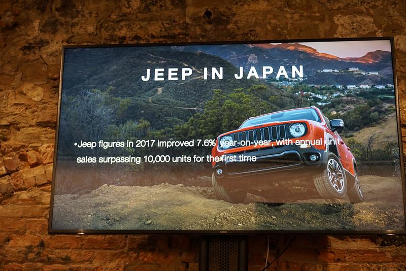 ジープブランドの日本国内の販売台数は年々増加していて、2017年は1万台をセールス。前年対比でも7.6%の向上となった