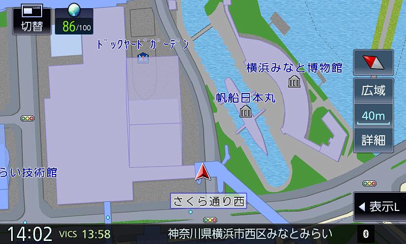 50mスケール以下は設定にかかわらず市街地図での表示