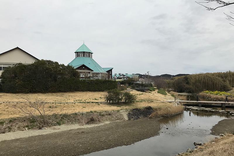 「道の駅とみうら」は裏手に大きな鯉が泳ぐ川が流れていて、お庭のベンチに座ればのどかな景色に癒されます。東京から90分とは思えないのどかさがたまらないですね