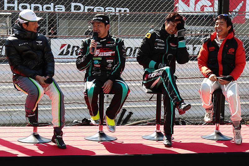 左から井出有治選手、片岡龍也選手、谷口信輝選手、高木真一選手