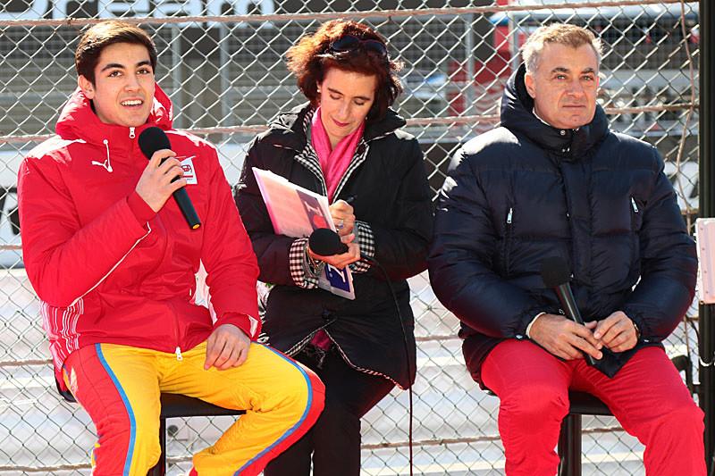 左側がジュリアーノ・アレジ選手、右側がジャン・アレジ氏