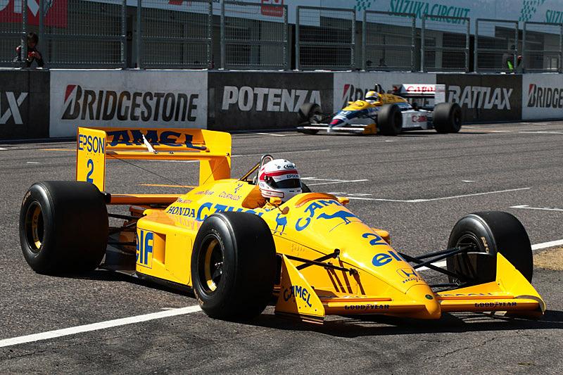 中嶋悟氏はロータス 100Tをドライブして登場