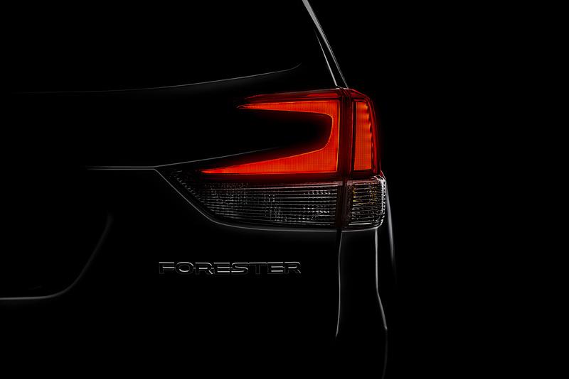 米国ニューヨークで開催される2018年ニューヨーク国際自動車ショーで世界初公開される新型「フォレスター」(米国仕様車)