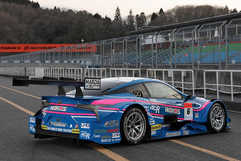 SUPER GT 500クラスに参戦する6号車 WAKO'S 4CR LC500。前後左右合計6カ所にオウルテックロゴが入っている