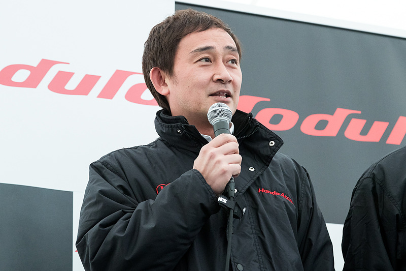 34号車 Modulo KENWOOD NSX GT3の道上龍選手