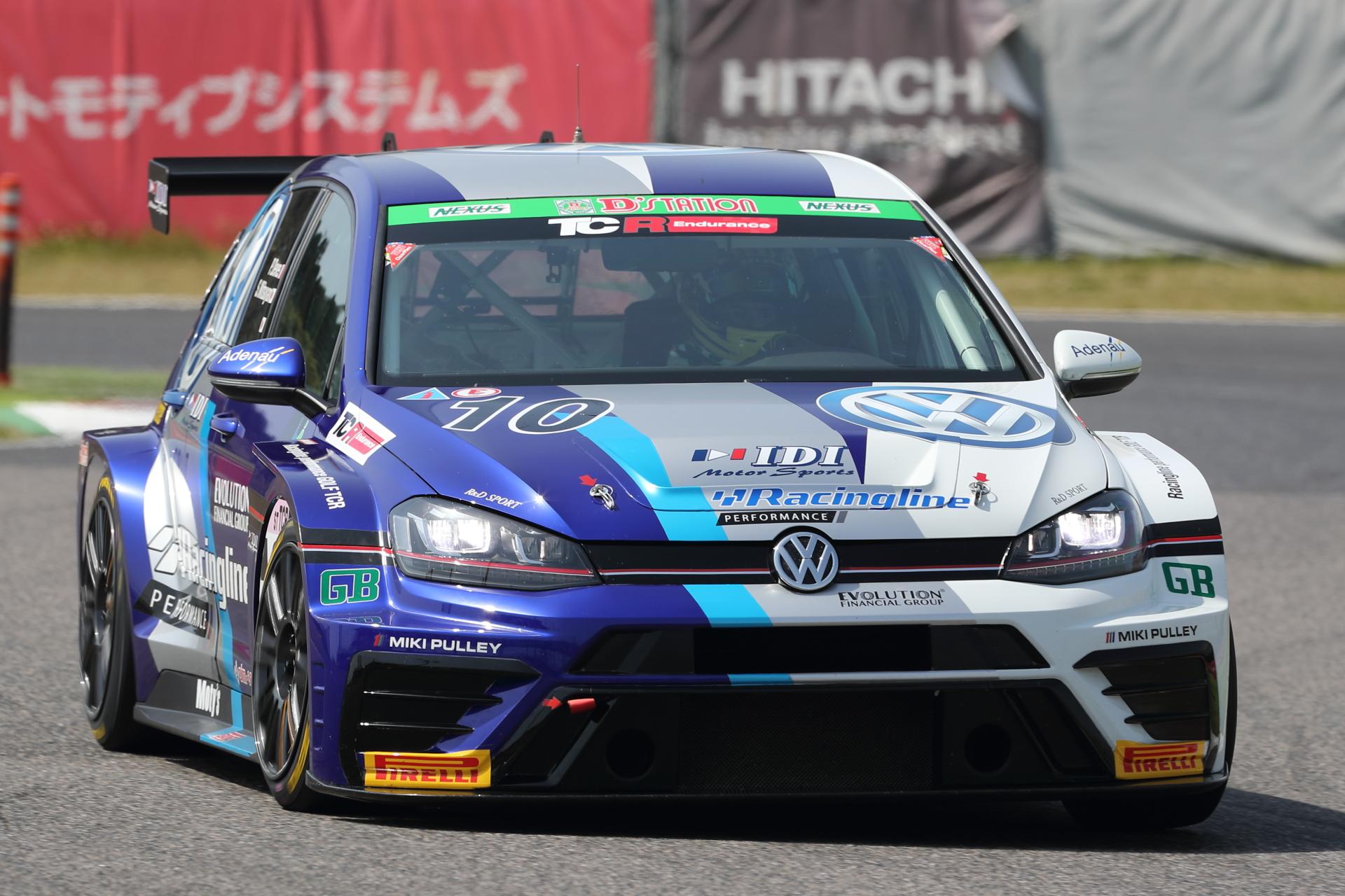 2位 No.10 Racingline PERFORMANCE GOLF TCR PhilippeDevesa/密山祥吾