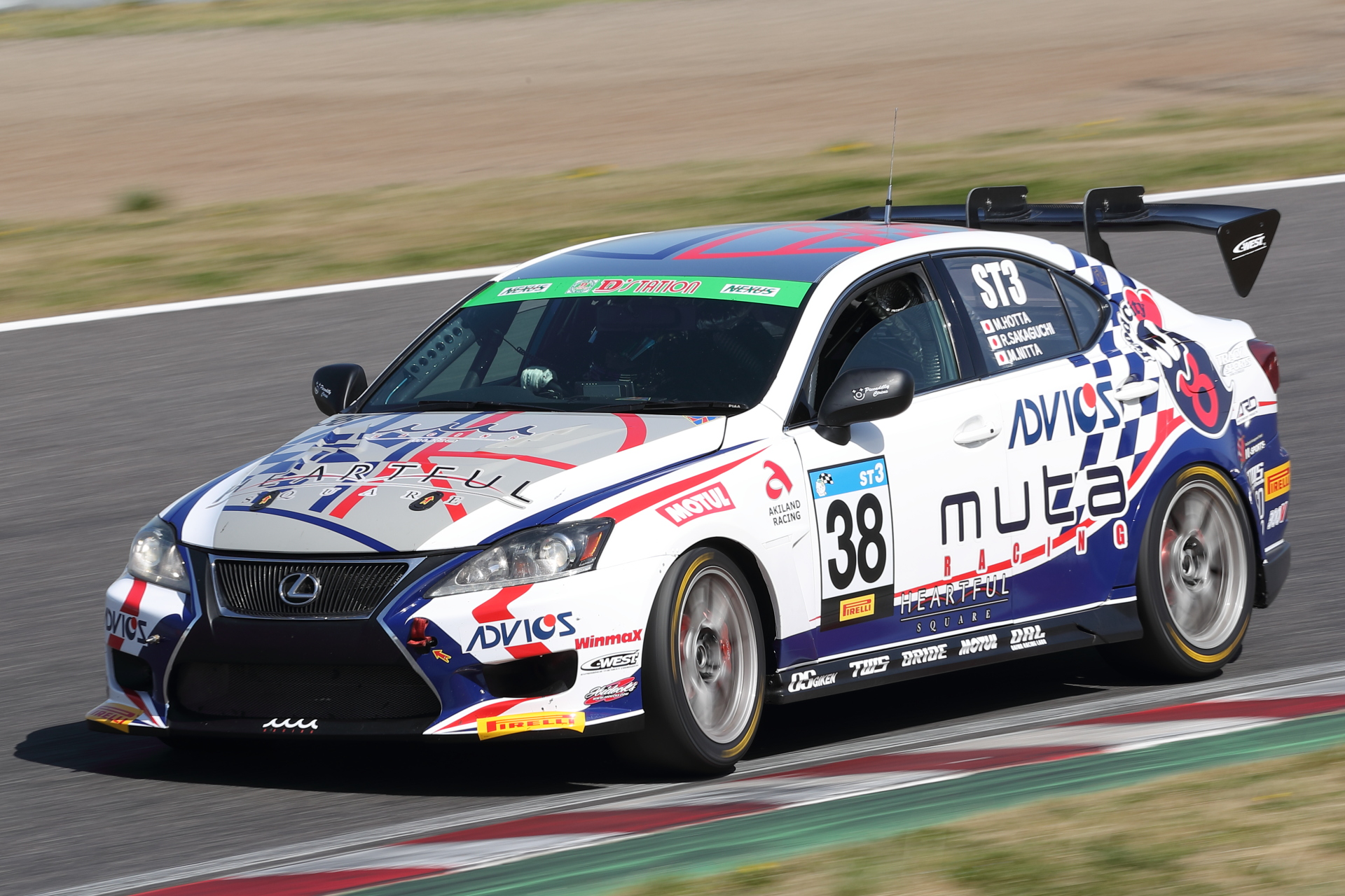 1位 No.38 muta Racing ADVICS IS350 TWS(GSE21)堀田誠/阪口良平