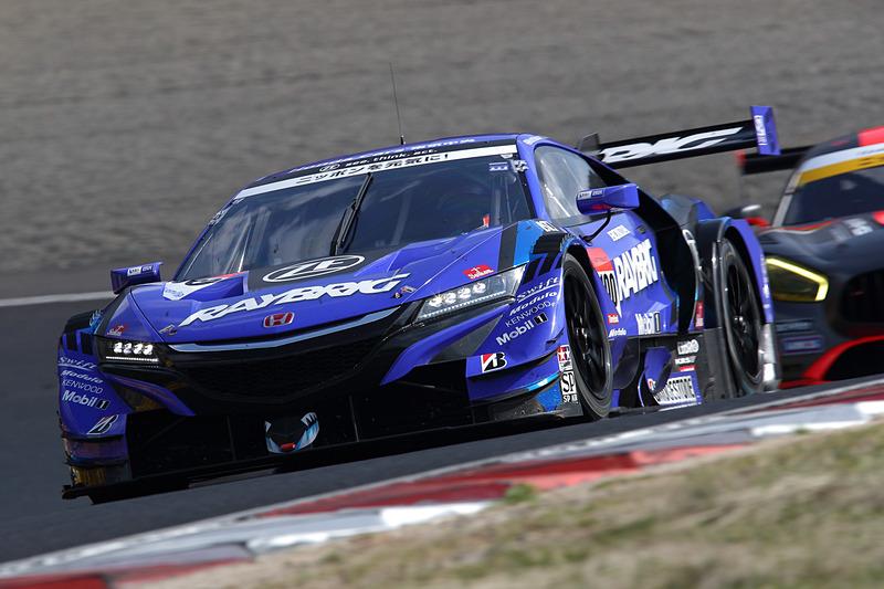 2位になった100号車 RAYBRIG NSX-GT(山本尚貴/ジェンソン・バトン組)