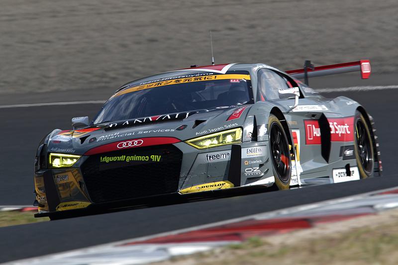 ピットストップまでトップだった21号車 Hitotsuyama Audi R8 LMS(リチャード・ライアン/富田竜一郎組)はマシントラブルでリタイア