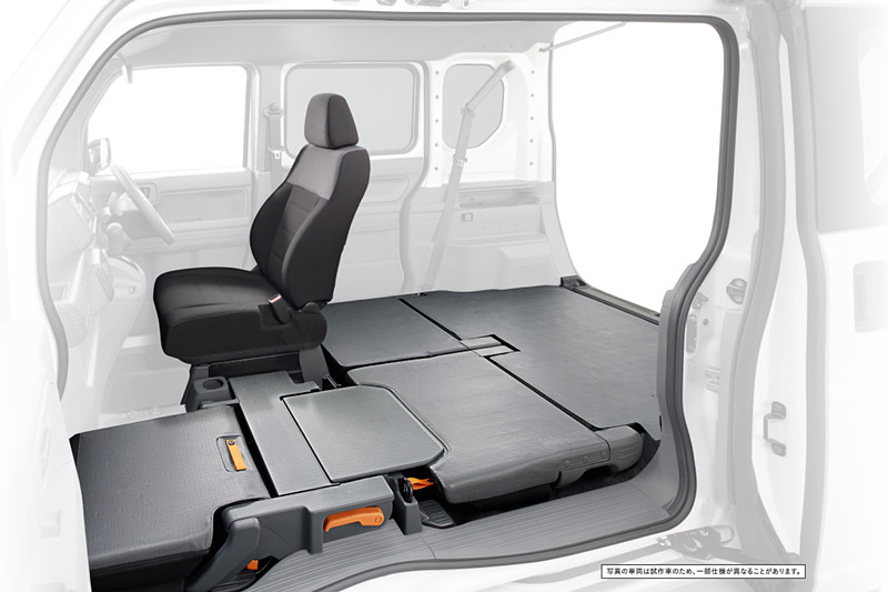 軽バン初採用となる新型N-VANの「ダブルビッグ大開口」