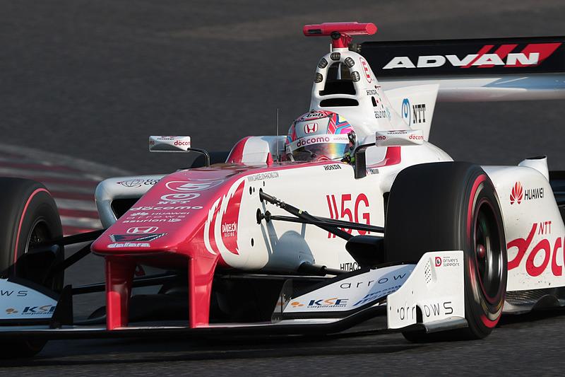 3位もホンダエンジンを搭載。野尻智紀選手(5号車 DOCOMO DANDELION M5S SF14/Honda HR-417E)