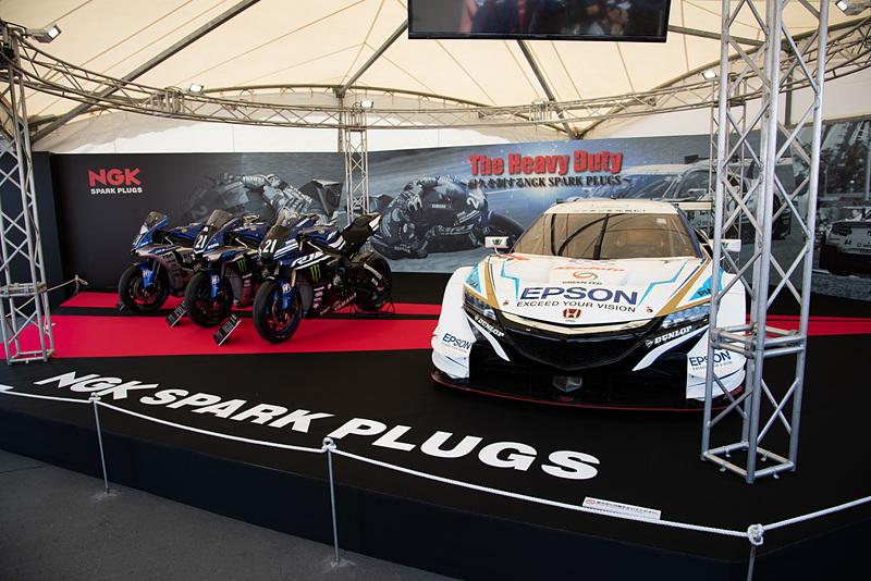 「64号車 Epson Modulo NSX-GT」など展示