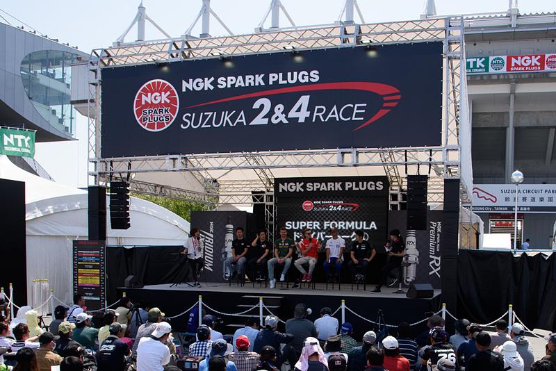 NGKのステージはGPスクエアのメインステージとなっており、各種イベントが頻繁に開催されている